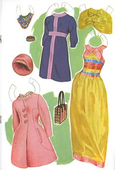 "Marlo Thomas ""That Girl"" paper dolls--the outfits could be considered on trend right now."