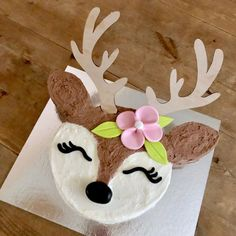 Our cute DIY Baby Deer Cake Kit is perfect for woodland parties, Bambi fans or to use for a Baby Shower or First Birthday cake. Pink Birthday Cakes, Wild One Birthday Party, Baby Girl First Birthday, Golden Birthday, 3rd Birthday, Birthday Ideas, Happy Birthday, Little Girl Cakes, Deer Cakes