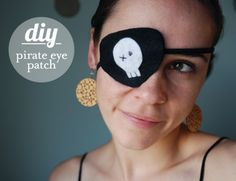 Here is an easy Pirate Eye Patch DIY that I created!  Enjoy!