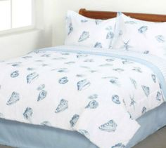 Seashells, Beach Themed, Nautical Twin Comforter Set (6 Piece Bed In A Bag) by Kreative Kids, http://www.amazon.com/dp/B0083WHEYC/ref=cm_sw_r_pi_dp_FU.dqb0CYBVZN