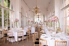 Very Romantic Wedding Reception at the Orangery, Holland Park ...