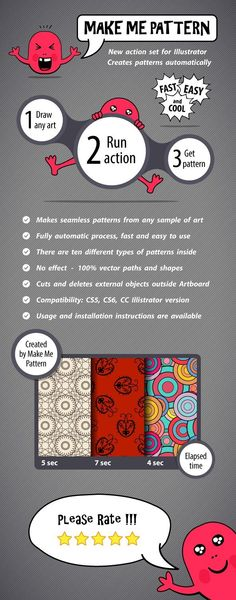 Make Me Pattern Action Set for Illustrator - Actions Illustrator Tool Design, Design Art, Graphic Design, Types Of Patterns, Photoshop, Illustrator Tutorials, Adobe Illustrator, Animation, Classic Collection