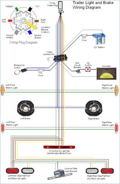 10 best trailer wiring diagram images trailer build, utilitynew 7 pin wiring diagram unique electric trailer brakes wiring free trailer, car trailer,