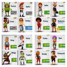Choose your Favorite :) : Subway Surfer.    Mine is Roberto :)