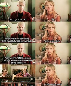 Buffy the Vampire Slayer. Buffy and Spike. Joss Whedon, Spike Buffy, Buffy Summers, Our Lady, Best Tv, Favorite Tv Shows, Favorite Things, Big Bang Theory, In This World