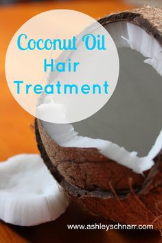 Coconut Oil Hair Treatment. Melt 1-2 Tbsp coconut oil and work into hair from roots to tips. Leave on for 30 min, then lather with shampoo before rinsing. Deep conditioning.