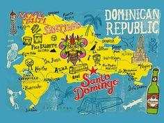 República Dominicana mapa turístico