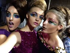 Models backstage before the RAW Kaleidoscope fashion show!! ;)) All wearing CG by Cynthia, Makeup by Rachel Gallenberg, Hair: By Nancy Martinez and Shannon :) #models #instastyle #instafashion #picoftheday #models #fashionshow #makeup #hair #girlmusthave #oofd #photoshoot