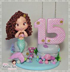 Ariel, Mermaids, Biscuits, Cake, Desserts, Beautiful Candles, Mermaid, 15 Years, Sweets