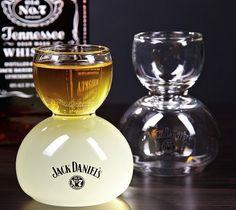Jack Daniel's Whiskey on Water Glasses