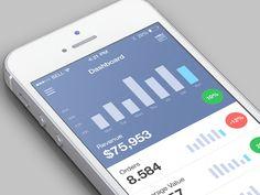Wip Dashboard #app #design #UI #interface #inspiration #mobile #ramotion #dribbble #behance #application #flatdesign #iOS7 #iphone