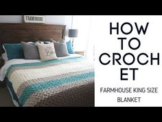 How to Crochet a cozy fast and easy Queen-King size comforter. Use on a bed or warm throw blanket for the family room. Find Supplies and pattern details belo. Crochet Blanket Edging, Crochet Bedspread, Blanket Yarn, Knitted Blankets, Crochet Afghans, Full Size Blanket, Queen Size Blanket, Blanket Sizes, King Size Comforters