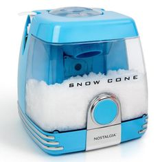 Nostalgia Electrics Nostalgia Countertop Snow Cone Party Station Makes 30 Icy Treats, Includes 2 Reusable Pump Syrup Bottles, 2 Plastic Cups, Ice Scoop, Blue Cool Gadgets To Buy, Cool Kitchen Gadgets, Cool Kitchens, Fun Gadgets, Baking Gadgets, Snow Cone Syrup, Snow Cone Machine, Party Stations, Sno Cones
