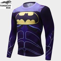 9e8fcaf3d90 Tops & Tees · 2017 Marvel Super Heroes Avenger Batman new T shirt Men  Compression Armour Base Layer Long Sleeve