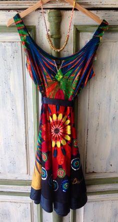 Desigual summer colorful dress