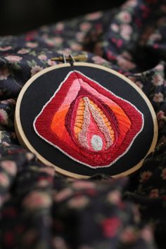 Custom Hand Embroidered Queer Feminist Doula Midwife Vagina Art - Vulva Lovely in Your Choice of Colors Sacred Feminine, Art Textile, Textiles, Feminist Art, Tentacle, Embroidery Art, Couture, Fiber Art, Cross Stitch