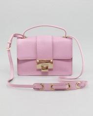 Jimmy Choo Rebel Leather Crossbody Bag Peony in Pink (peony)