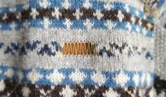 Fair Isle repair guide.  Knitting and Crochet Guild Commission Swiss Darning pt 1