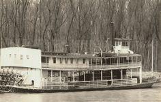 Walker Evans. Mississippi Sternwheeler at Vicksburg, Mississippi. 1936