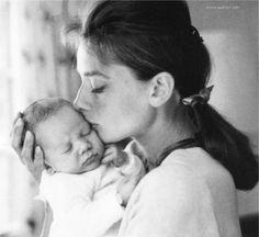 Audrey Hepburn and son, Sean Hepburn Ferrer//