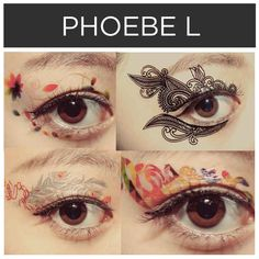 Eye make-up decals by Phoebe L . | 15 Incredible Artists Who Will Change Your Mind About Temporary Tattoos