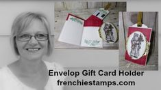 video tutorial: Envelope  Gift Card Holder ... made from an envelope ... lots of useful tips from France Martin ...