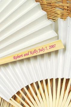 Personalised Wedding Fans (BridesMagazine.co.uk)