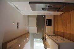 Smoked American Oak floors and bulkhead design by Plumb Interior Design. www.royaloakfloors.com.au
