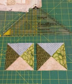 Clue 6, first time with quarter square triangles. Bonnie Hunter's directions made them less intimidating!