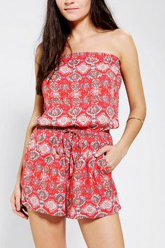 Angie Printed Strapless Romper  New Colors Available