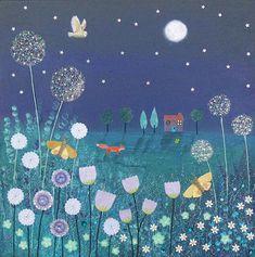 SPRING SALE - Midnight Meadow jo grundy