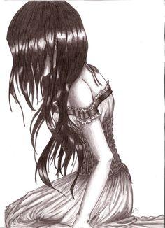 Dark Angel Drawings | Dark Angel Cry by BstVampIRE
