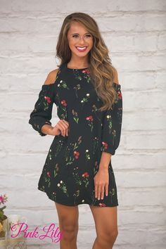 Escape boring clothes with this gorgeous floral dress with a twist! It features a classic shift dress silhouette paired with cold shoulder cutouts and sleeves - it's a beautiful way to celebrate the last days of summer!