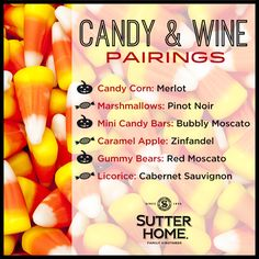Happy Halloween! Try out these wine and candy pairings. Tell us your favorite!