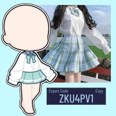 Club Outfits, Girl Outfits, Poses, Royal Blue Hair, Eren E Levi, Club Hairstyles, Drawing Anime Clothes, Cute Anime Chibi, Club Design