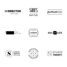Minimalist logo templates collection Free Vector