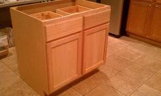 simplest diy island kitchen