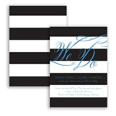 Wedding Bands - Wedding Invitation, Contrasting Stripes, Nautical at Invitations By David's Bridal