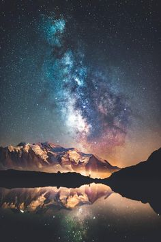 Milky Way Galaxy I caught the Milky Way above Mont Blanc last weekend. Exif is in the comments! Beautiful Sky, Beautiful Landscapes, Nature Pictures, Cool Pictures, Landscape Photography, Nature Photography, Galaxy Photos, Galaxy Images, Milky Way