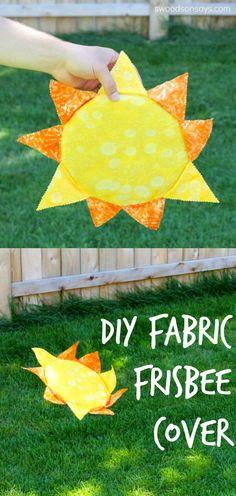 DIY Fabric Frisbee Makeover. Sew up a simple cover and turn your boring old disc into a sun, a jellyfish, a flower, or anything else you can imagine! Easy tutorial.
