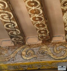 Mine is the business of creating patina. Let me rephrase that. Mine is the business of RECREATING patina. You see, for me, there is . Mural Stencil, Painted Furniture, Painted Floors, Wooden Beams, Ceiling Murals, Painted Beams, Painted Ceiling, Faux Painting, Decorative Painting