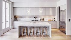 beautiful minimal kitchen