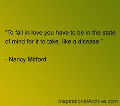 Nancy Mitford quote on love