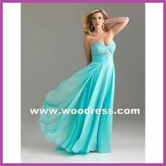 sexy strapless gown chiffon long aqua plus size prom dresses Style 6528W
