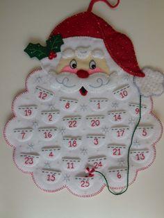 Calendario de Adviento acabados  Santa