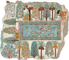 affresco murario noto come Giardino di Nebamon - vasche sacre nell'Antico egitto – progettare fontane