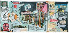 Reproduction de Basquiat, Notary - Study. Tableau peint à la main dans nos ateliers. Peinture à l'huile sur toile.