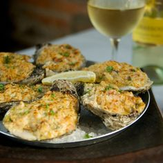 Oysters Bienville ... OMG! These are sooo good! You can only find them in Louisiana or the Mississippi Gulf Coast!