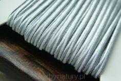 Sznurek Sutasz PEGA - srebro metalizowane [1 metr] - Skarby Natury - rozwiń swoją pasję Metr