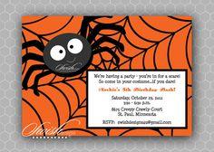 Halloween Birthday Party Invite #swishdesigns